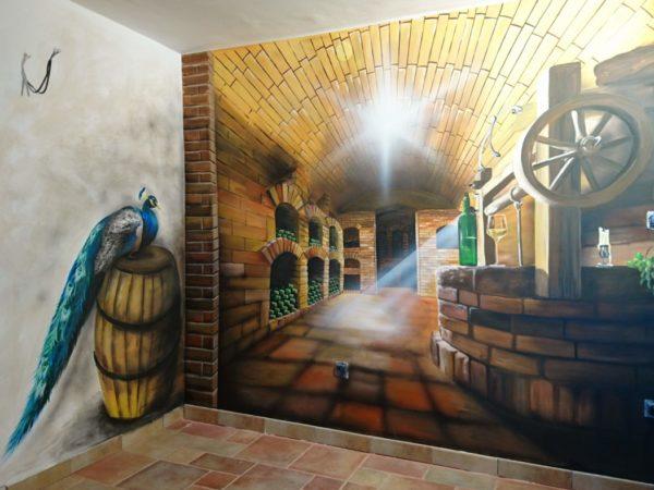 3D malba vinárny