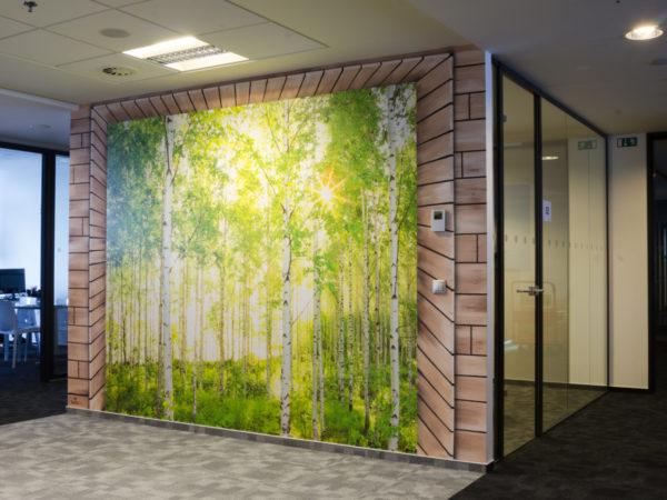design interiéru jsme proměnili také ve společných prostorách kanceláří mall.cz