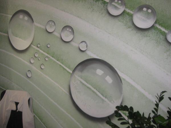 detail nástěnné malby kapky rosy